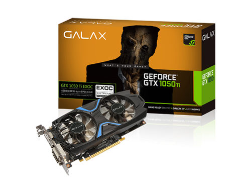 GALAX GeForce GTX 1050 Ti EXOC Graphic Card