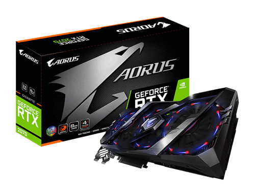 Gigabyte AORUS GeForce® RTX 2070 8G Graphic Card GV-N2070AORUS-8GC