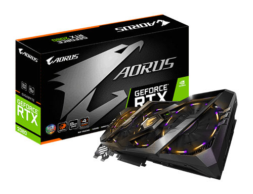 Gigabyte AORUS GeForce® RTX 2080 8G Graphic Card GV-N2080AORUS-8GC