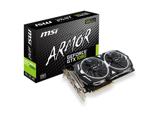 MSI GeForce GTX 1080 ARMOR 8G OC Graphic Card
