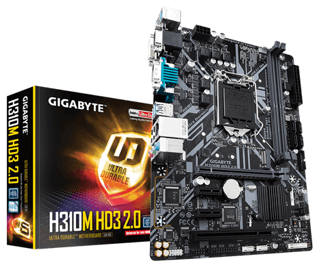GIGABYTE  H310 Ultra Durable Motherboard